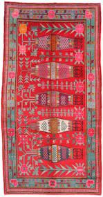 Samarkand Βιντάζ Χαλι 173X332 Ανατολής Χειροποιητο Kόκκινα/Ανοιχτό Γκρι (Μαλλί, Κινέζικα)
