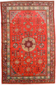 Samarkand Vintage Rug 161X250 Authentic Oriental Handknotted Rust Red/Dark Red (Wool, China)