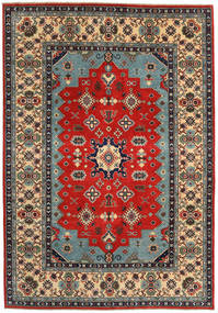 Kazak Rug 188X271 Authentic  Oriental Handknotted Dark Brown/Rust Red (Wool, Pakistan)