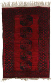 Afghan Khal Mohammadi Rug 124X195 Authentic  Oriental Handknotted Dark Brown/Dark Red (Wool, Afghanistan)