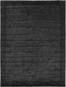 Handloom Frame - Svart/Mørk Grå Teppe 200X300 Moderne Mørk Grå/Mørk Grønn (Ull, India)