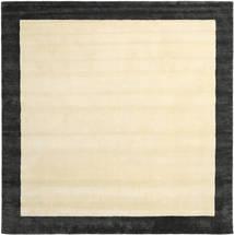 Handloom Frame - Fekete/White Szőnyeg 300X300 Modern Szögletes Bézs/Sötétszürke Nagy (Gyapjú, India)