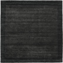 Handloom Frame - Black/Dark Grey Rug 300X300 Modern Square Black Large (Wool, India)