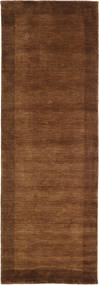 Handloom Frame - Brown Rug 80X350 Modern Hallway Runner  Dark Brown/Brown (Wool, India)