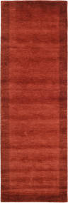 Handloom Frame - Rouille Tapis 80X350 Moderne Tapis Couloir Rouille/Rouge (Laine, Inde)