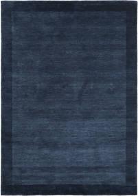 Handloom Frame - Ciemnoniebieski Dywan 160X230 Nowoczesny Ciemnoniebieski (Wełna, Indie)
