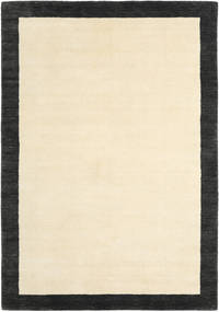 Handloom Frame - Black/White Rug 160X230 Modern Beige/Black/Yellow (Wool, India)
