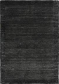 Handloom Frame - Musta/Tummanharmaa Matto 160X230 Moderni Musta/Tummanvihreä (Villa, Intia)