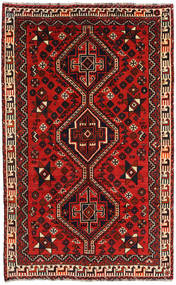 Shiraz Rug 157X254 Authentic  Oriental Handknotted Black/Rust Red/Dark Red (Wool, Persia/Iran)