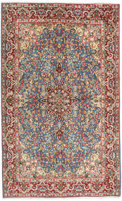 Kerman Szőnyeg 144X236 Keleti Csomózású Barna/Világosbarna (Gyapjú, Perzsia/Irán)
