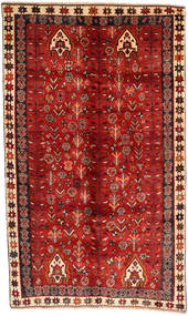 Qashqai Rug 148X252 Authentic  Oriental Handknotted Rust Red/Dark Red (Wool, Persia/Iran)