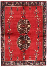Afshar Vloerkleed 147X209 Echt Oosters Handgeknoopt Rood/Donkerrood (Wol, Perzië/Iran)
