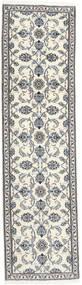 Nain Alfombra 78X288 Oriental Hecha A Mano Beige/Gris Claro (Lana, Persia/Irán)