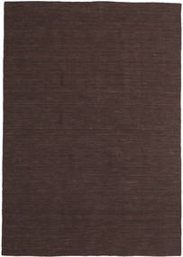 Kilim Loom - Dark Brown Rug 160X230 Authentic  Modern Handwoven Dark Brown (Wool, India)