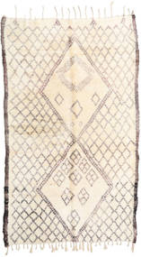 Berber Moroccan - Beni Ourain Rug 187X310 Authentic  Modern Handknotted Beige/Light Grey (Wool, Morocco)
