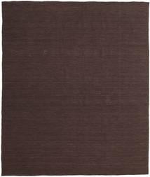 Kelim Loom - Mørk Brun Teppe 250X300 Ekte Moderne Håndvevd Mørk Brun/Mørk Blå Stort (Ull, India)