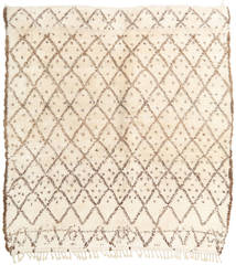 Berber Moroccan - Beni Ourain Rug 207X215 Authentic  Modern Handknotted Square Beige/Light Brown (Wool, Morocco)