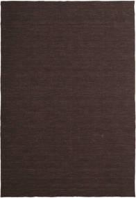 Kelim Loom - Donkerbruin Vloerkleed 300X400 Echt Modern Handgeweven Donkerbruin/Donkerblauw Groot (Wol, India)