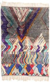 Berber Moroccan - Beni Ourain 絨毯 168X245 モダン 手織り ベージュ/濃い紫 (ウール, モロッコ)