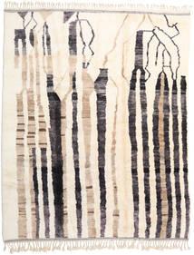 Berber Moroccan - Beni Ourain 絨毯 282X347 モダン 手織り ベージュ/濃いグレー 大きな (ウール, モロッコ)