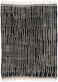 Berber Moroccan - Beni Ourain Tapis 224X300 Moderne Fait Main Noir/Gris Clair (Laine, Maroc)