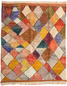 Berber Moroccan - Mid Atlas 絨毯 324X394 モダン 手織り 薄茶色/錆色 大きな (ウール, モロッコ)