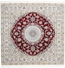 Nain 9La Vloerkleed 196X201 Echt Oosters Handgeknoopt Vierkant Beige/Lichtgrijs (Wol/Zijde, Perzië/Iran)