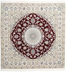 Nain 9La Matto 205X208 Itämainen Käsinsolmittu Neliö Vaaleanharmaa/Beige (Villa/Silkki, Persia/Iran)