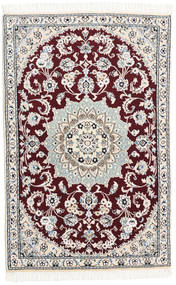 Nain 9La Matta 88X132 Äkta Orientalisk Handknuten Vit/Cremefärgad/Beige (Ull/Silke, Persien/Iran)