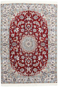 Nain 9La Rug 140X205 Authentic Oriental Handknotted Dark Red/Light Purple (Wool/Silk, Persia/Iran)