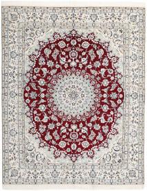 Nain 9La Rug 193X240 Authentic  Oriental Handknotted Beige/White/Creme/Light Grey (Wool/Silk, Persia/Iran)