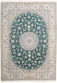 Nain 9La Rug 250X350 Authentic  Oriental Handknotted Beige/Light Grey Large (Wool/Silk, Persia/Iran)