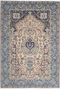 Naïn 9La Tapis 240X353 D'orient Fait Main Marron Clair/Gris Clair (Laine/Soie, Perse/Iran)