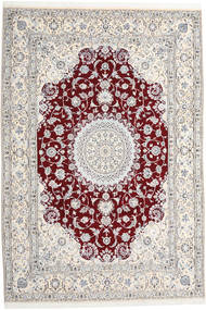 Nain 9La Rug 247X368 Authentic  Oriental Handknotted Beige/Light Grey/White/Creme (Wool/Silk, Persia/Iran)