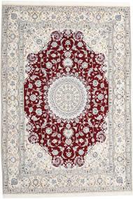 Nain 9La Alfombra 247X368 Oriental Hecha A Mano Beige/Gris Claro/Blanco/Crema (Lana/Seda, Persia/Irán)