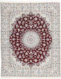 Nain 9La Matta 200X250 Äkta Orientalisk Handknuten Ljusgrå/Vit/Cremefärgad (Ull/Silke, Persien/Iran)