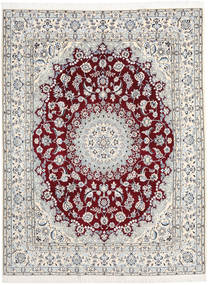 Nain 9La Rug 197X256 Authentic  Oriental Handknotted Beige/Light Grey (Wool/Silk, Persia/Iran)