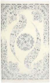 Nain 9La Rug 204X322 Authentic  Oriental Handknotted Beige/White/Creme (Wool/Silk, Persia/Iran)