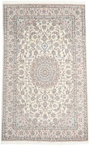 Nain 9La Rug 193X318 Authentic Oriental Handknotted Light Grey/Beige (Wool/Silk, Persia/Iran)