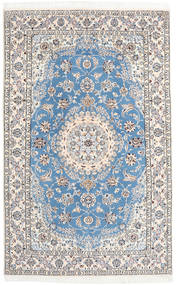 Nain 9La Teppe 158X250 Ekte Orientalsk Håndknyttet Lys Grå/Beige/Lys Blå (Ull/Silke, Persia/Iran)