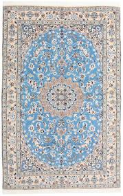Nain 9La Teppe 159X248 Ekte Orientalsk Håndknyttet Lys Grå/Lys Blå (Ull/Silke, Persia/Iran)