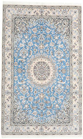 Nain 9La Rug 153X250 Authentic  Oriental Handknotted Light Grey/Beige/White/Creme/Light Blue (Wool/Silk, Persia/Iran)