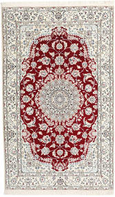 Nain 9La Rug 150X243 Authentic  Oriental Handknotted Beige/Light Grey (Wool/Silk, Persia/Iran)