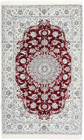 Nain 9La Rug 148X242 Authentic  Oriental Handknotted Beige/Dark Red (Wool/Silk, Persia/Iran)