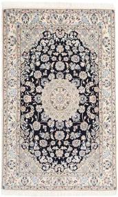 Nain 9La Teppe 130X207 Ekte Orientalsk Håndknyttet Beige/Lys Grå/Hvit/Creme (Ull/Silke, Persia/Iran)