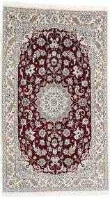 ナイン 9La 絨毯 130X225 オリエンタル 手織り 濃い茶色/薄い灰色/ベージュ (ウール/絹, ペルシャ/イラン)