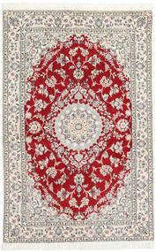 Nain 9La Covor 130X197 Orientale Lucrat Manual Gri Deschis/Bej (Lână/Mătase, Persia/Iran)