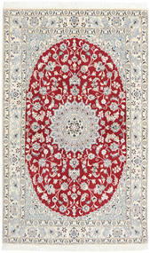 Nain 9La Rug 125X205 Authentic  Oriental Handknotted Beige/Light Grey (Wool/Silk, Persia/Iran)