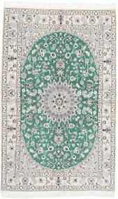 Nain 9La Dywan 128X204 Orientalny Tkany Ręcznie Beżowy/Jasnoszary (Wełna/Jedwab, Persja/Iran)