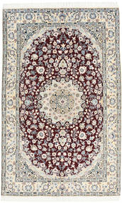 Nain 9La Rug 130X205 Authentic  Oriental Handknotted Beige/Light Grey (Wool/Silk, Persia/Iran)